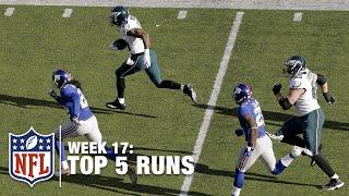 Top 5 Runs (Week 17) | Murray Gallops Past the Giants! | NFL
