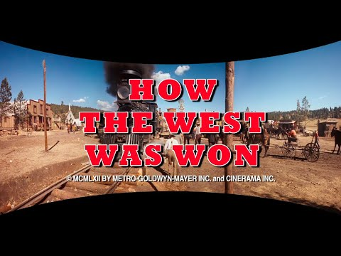 """Download """"HOW THE WEST WAS WON"""" (1962) HD RESTORED TRAILER IN CINERAMA SMILEBOX FORMAT"""