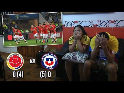 PENALTIS REACCIÓN COLOMBIA 0 (4) vs CHILE 0 (5) CUARTOS DE FINAL COPA AMÉRICA BRASIL 2019