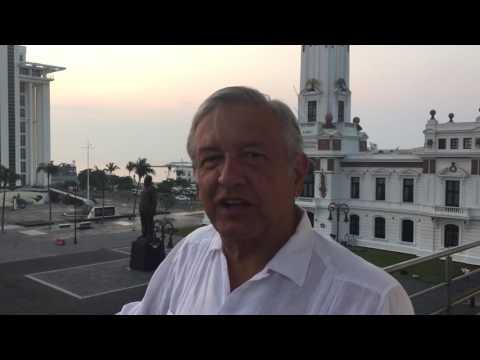AMLO envía mensaje desde el puerto de Veracruz