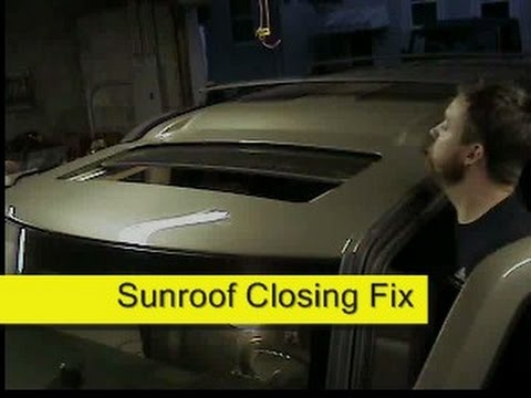 Jeep chrysler sunroof closing fix youtube for How much to fix car window motor