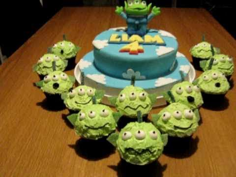 Toy Story Alien Birthday Cake Dad Bakes