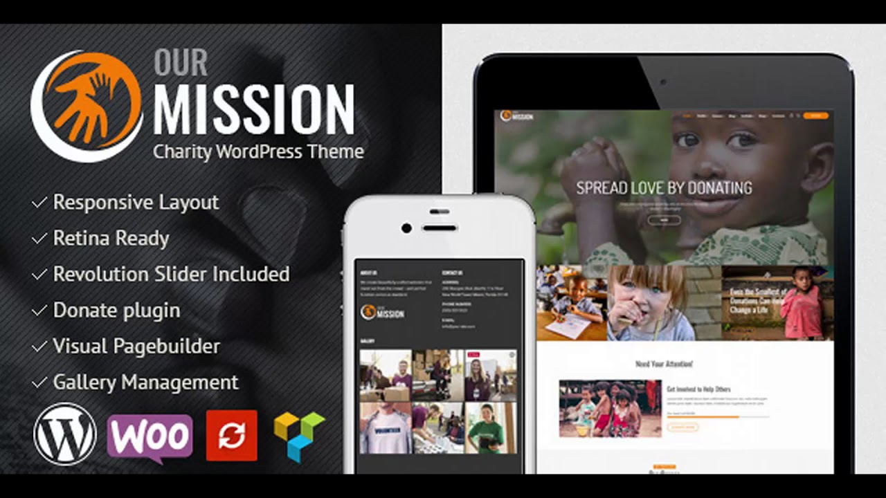 Our Mission - Charity WordPress Theme   Themeforest Website ...