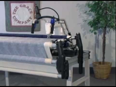 Pinnacle machine quilting frame overview - YouTube