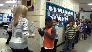 Teacher Creates Secret Handshakes With Her Students