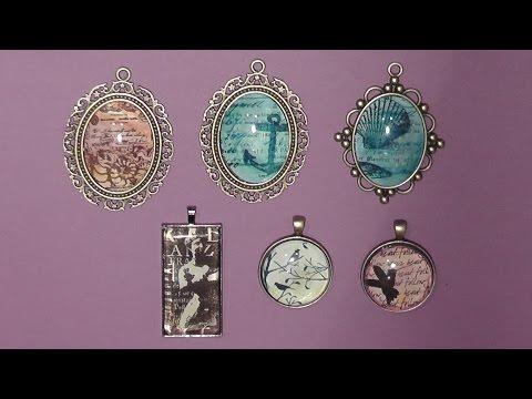 DIY-PROJECT: Mixed Media - Schmuck Cabochon Jewelery