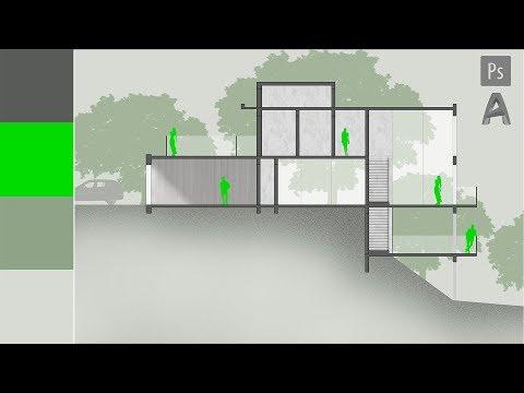 Corte Arquitetura Photoshop