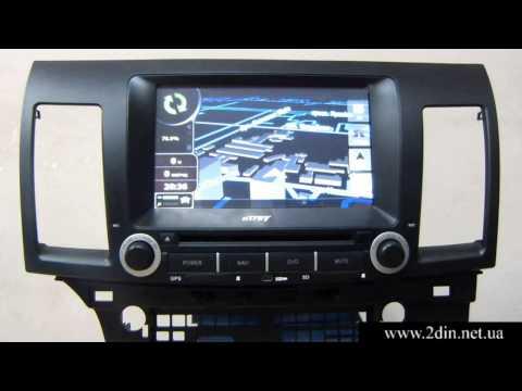 Штатная магнитола для Mitsubishi Lancer X (nTray 8731) - Прошивка GPS навигации
