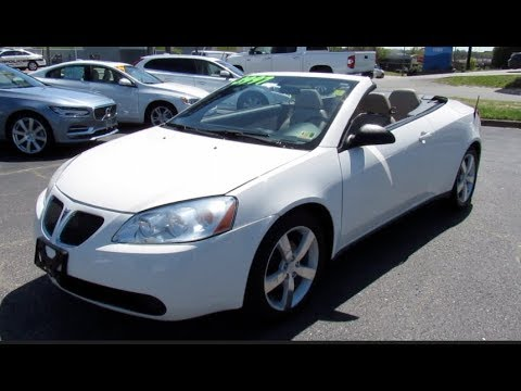 2007 Pontiac G6 Gt Convertible Walkaround Start Up Tour And Overview