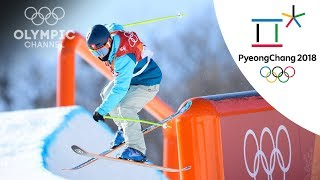 Sarah Hoefflin gets top score and Freestyle Skiing Slopestyle gold in final Run | PyeongChang 2018