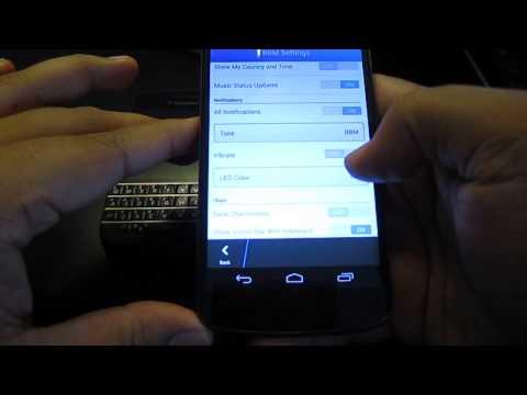 BBM On Android (walk-through W/ Nexus 4)