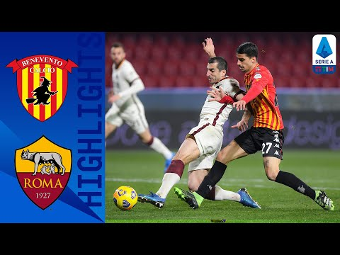 Benevento AS Roma Goals And Highlights
