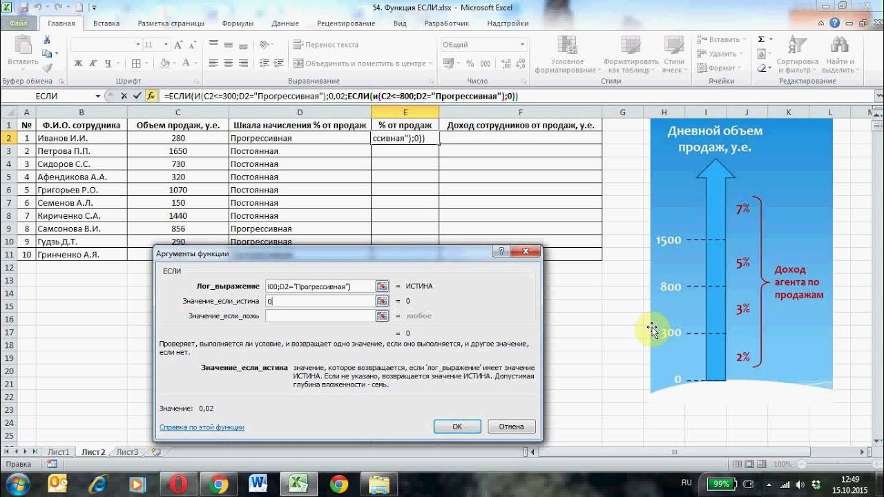Функция ЕСЛИ Microsoft Excel, часть 2