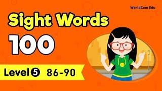 [Sight Words 100 LEVEL.5] Lesson 18 | 86.felt -  90.difficult