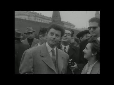 Gérard Philipe à Moscou - 1955