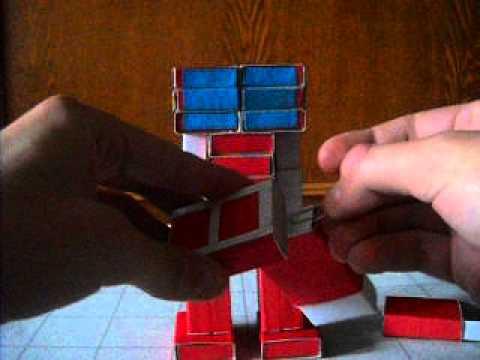 как сделать из бумаги трансформера бамблби схема
