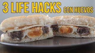 3 Life Hacks con huevos - TIPS de cocina