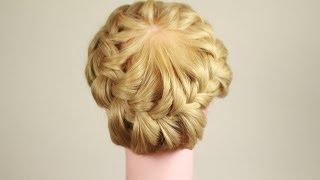 Прическа корзинка подробный урок. Hairstyle