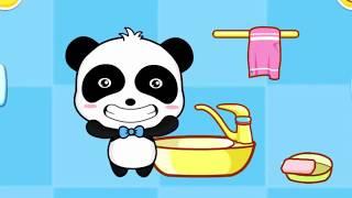 Доктор панда #3 Малыш Кики  какает пук пукает чистит зубы спит. #Игры андроид Мультик Игра для детей
