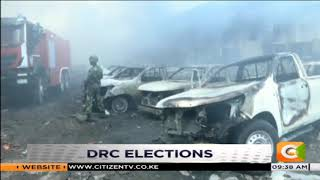 Fire guts down an election commission depot in DR Congo