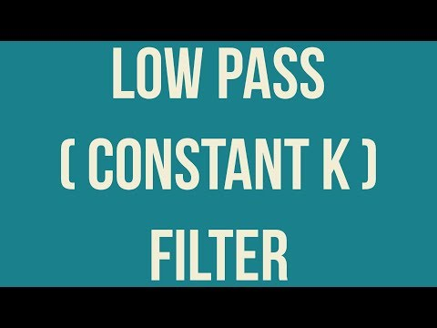 constant k low pass filter