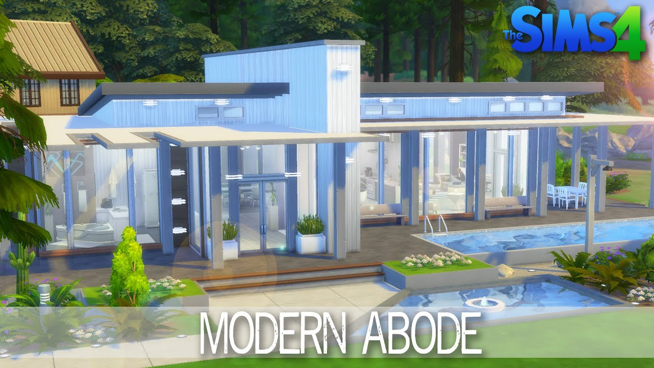 The sims 4 house building modern abode speed build