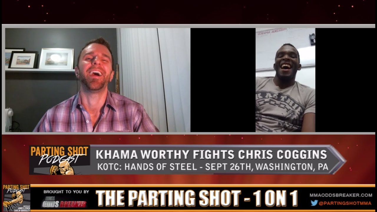 """Khama Worthy on KOTC: Hands of Steel opponent Chris Coggins """"He's just not quite the athlete I am"""""""
