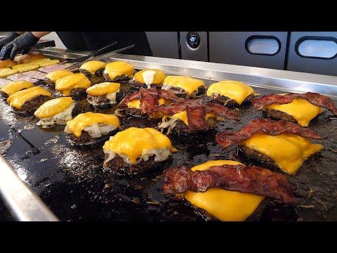 트리플 치즈 버거 / triple cheeseburger - korean street food