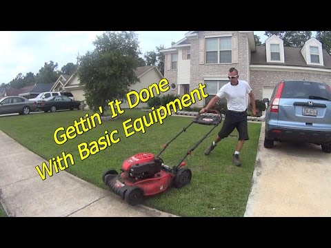 NERD ALERT - Mowing a Few Lawns with Basic Lawn Service Equipment
