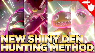 How to Hunt for a 100% Shiny Max Raid Den in Pokemon Sword and Shield