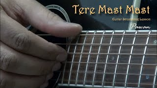 Tere Mast Mast, Pee Loon & Man Lafanga - Guitar Chords Lesson by Pawan