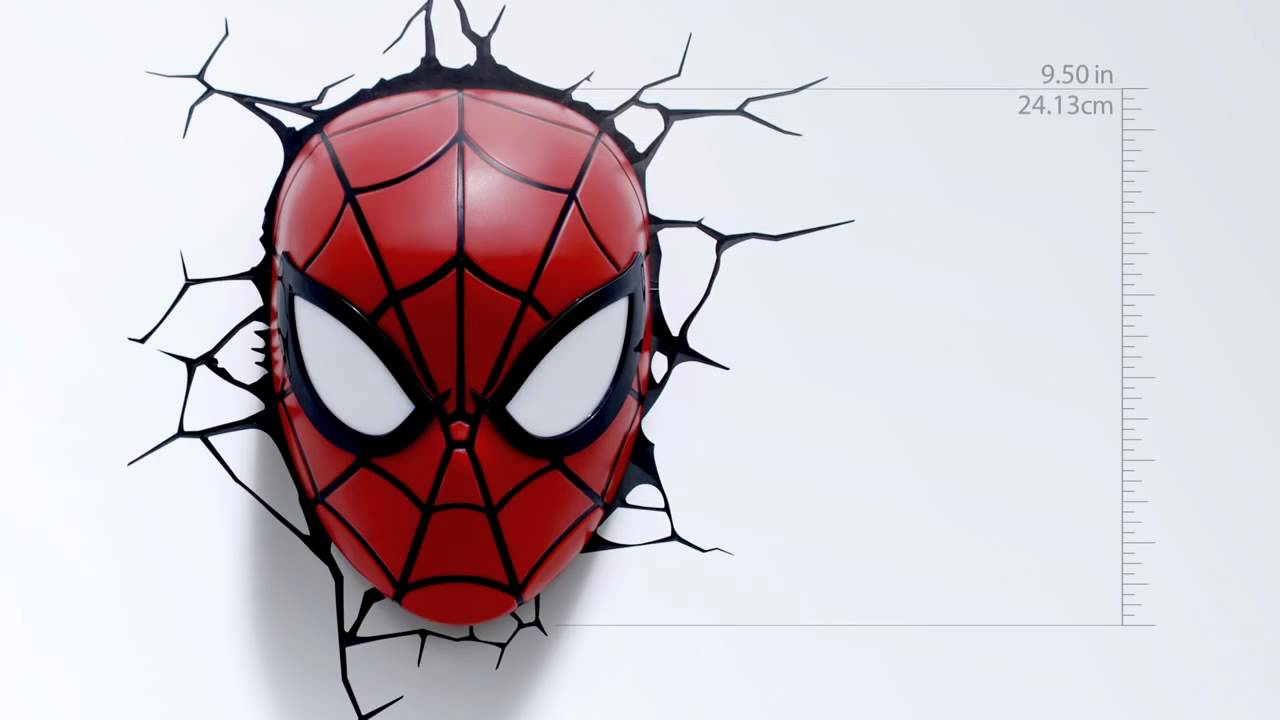Marvel spider man 3d wall light youtube marvel spider man 3d wall light mozeypictures Gallery