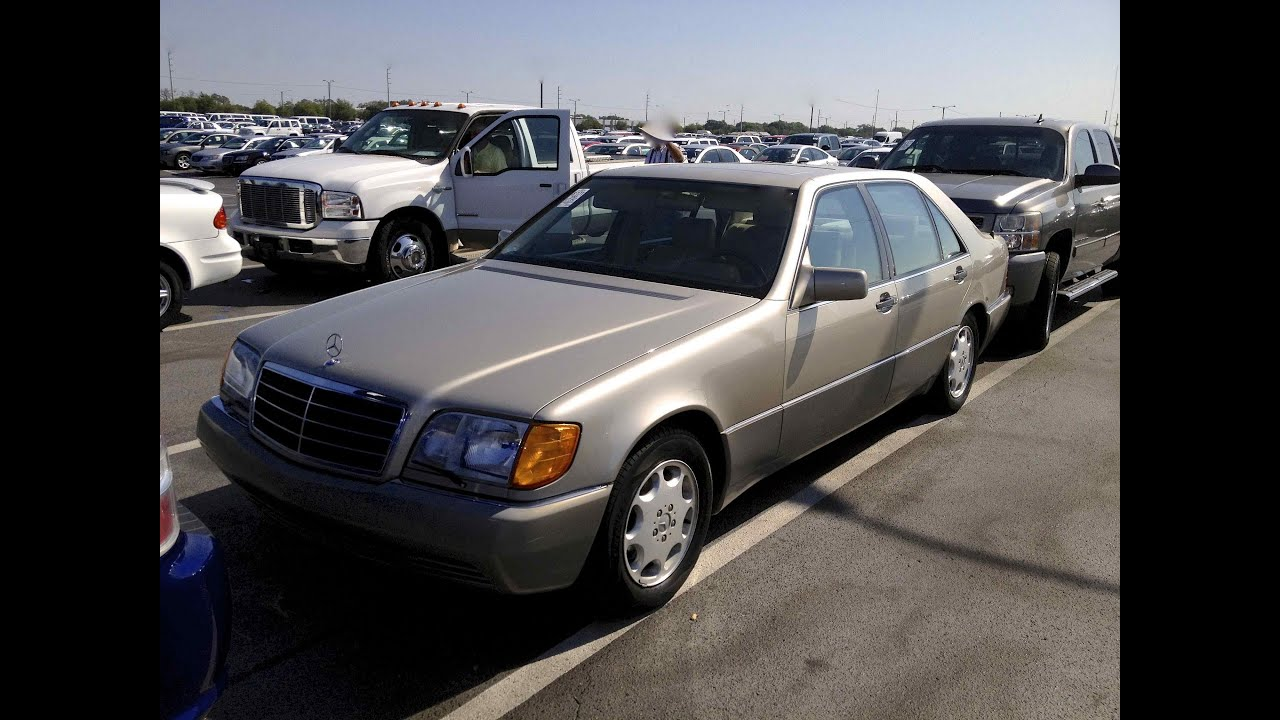 1993 mercedes benz 500sel w140 start up quick tour rev with exhaust view 77k youtube