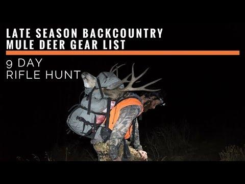 Brady Miller's Late Season Backcountry Rifle Mule Deer Gear List