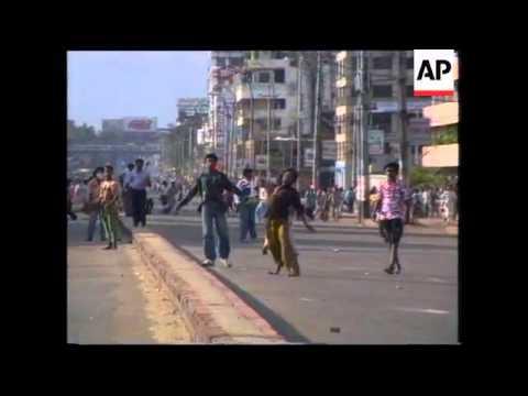 Bangladesh - Protestors Clash With Police