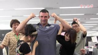 14日、大阪のボディメーカーコロシアムで行われる「GENOME21」のPR...