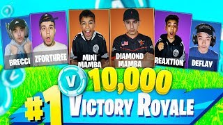 Pro Fortnite Tournament With Brothers And Friends! 10,000 V Bucks Prize!