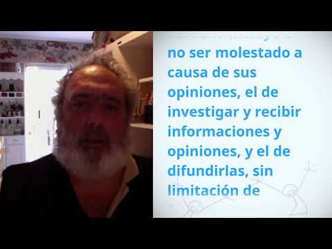 Marcelo Alejandro Seijas, Argentina, reading article 19 of the Universal Declaration of Human Rights