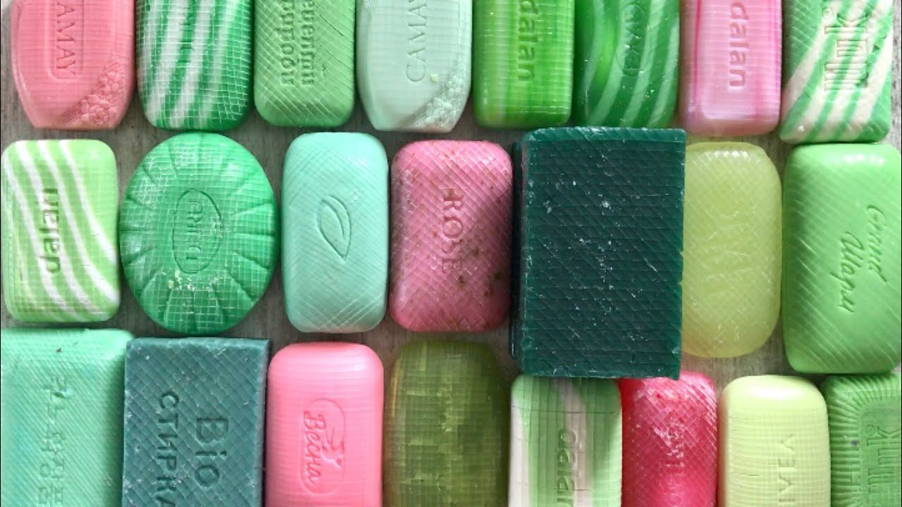 Soap CUBES | A set of green-pink cubes * Satisfying video # 245
