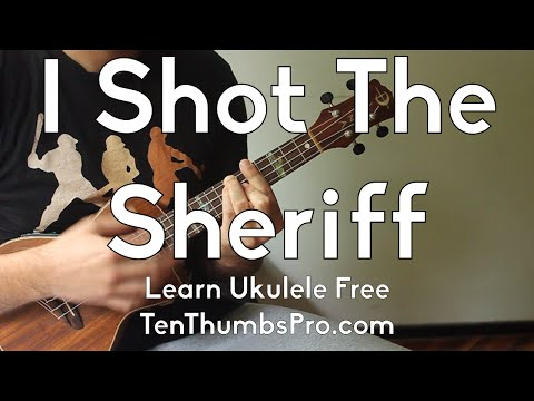 I Shot The Sheriff - Bob Marley - Eric Clapton How To Play Ukulele Song Riff w/Tabs and Play-a-long