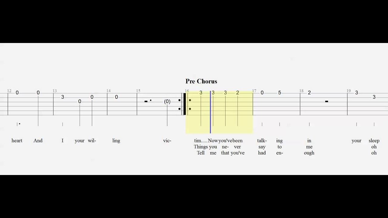 guitar tab just give me a reason slow beginner play along youtube. Black Bedroom Furniture Sets. Home Design Ideas