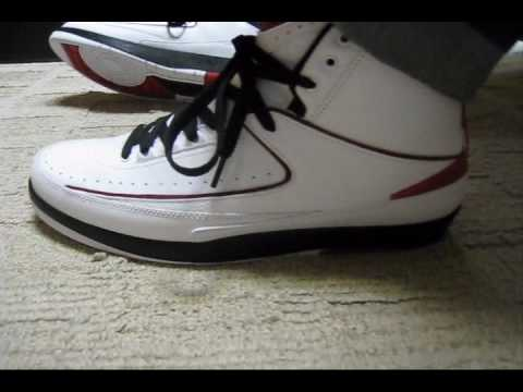 Air Jordan 2 Retro Quarter Finals White Black Red shoes