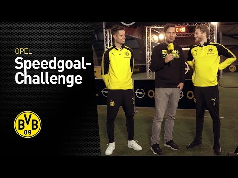 Julian Weigl vs. André Schürrle | OPEL Speedgoal Challenge | BVB