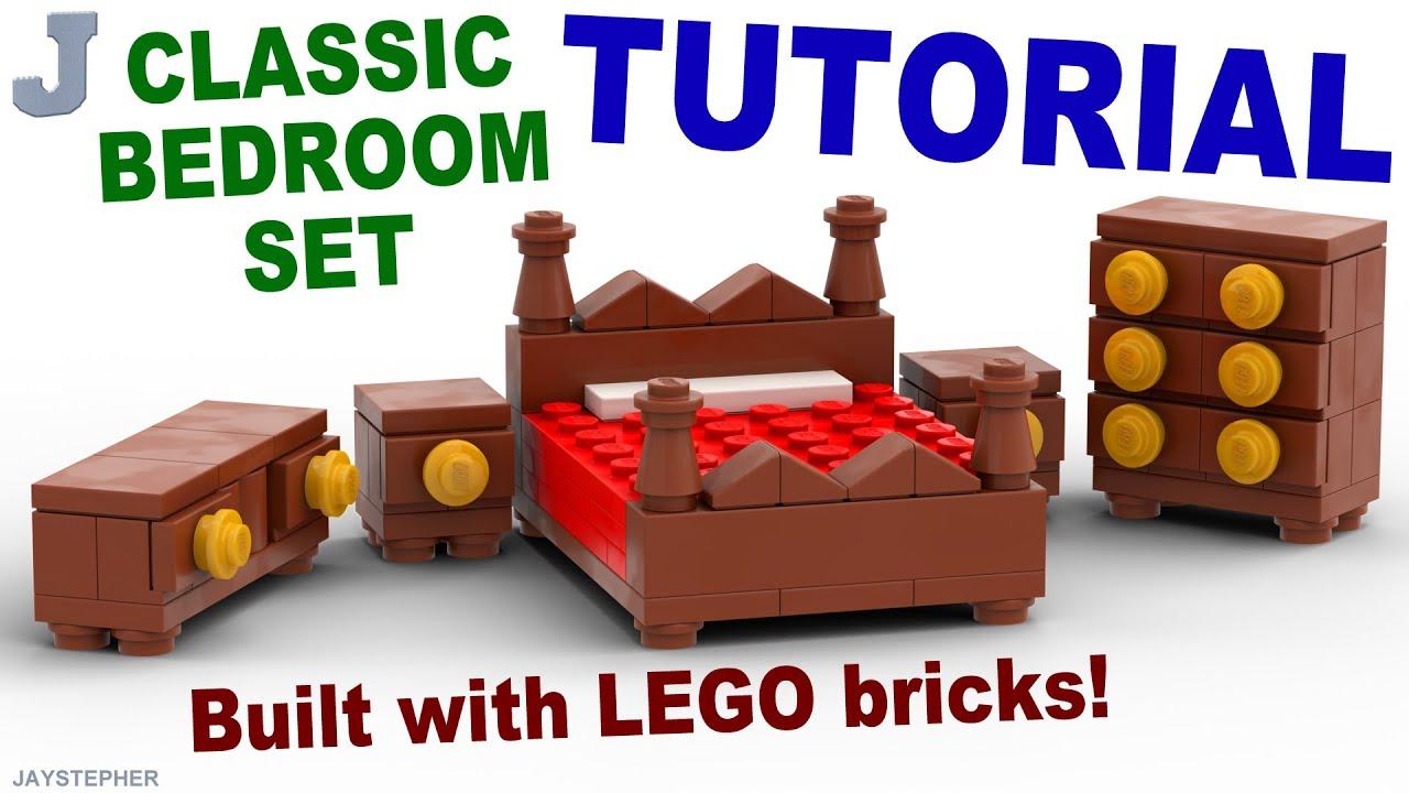 Classic Lego Bedroom Set How To Tutorial Youtube