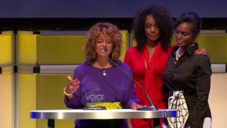 2016 Voice Awards Event: Rebbie Jackson-Brown, Yashi Brown, and Stacy Brown-Salas