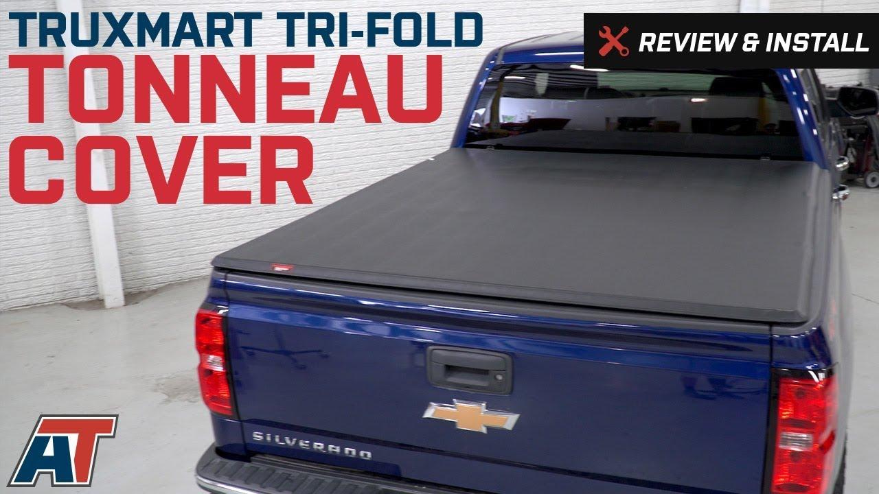 2014 2018 Silverado Truxmart Tri Fold Tonneau Cover Review Install Youtube