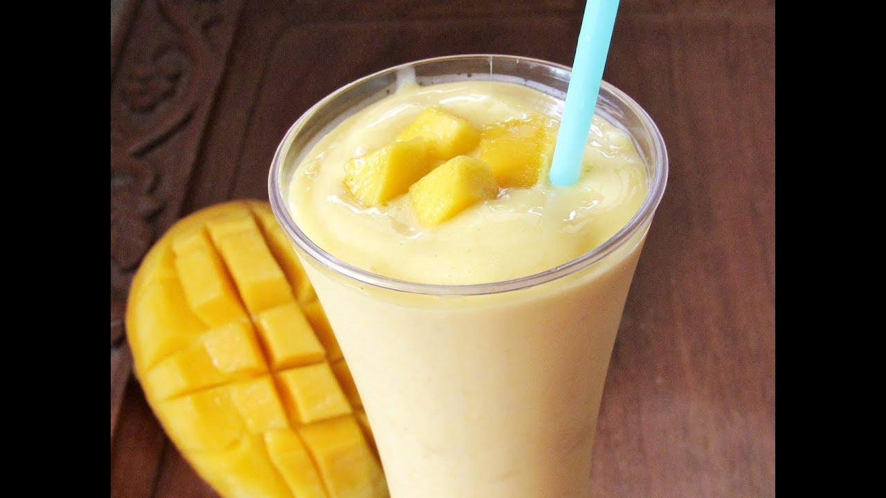 Mango Smoothie Recipe   MANGO MILKSHAKE   Nisa Homey - YouTube