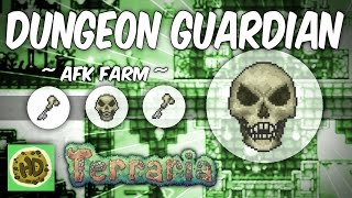 Terraria AFK Dungeon Guardian Farm | Get the Bone Key! (1.3 bosses, baby skeletron head!)