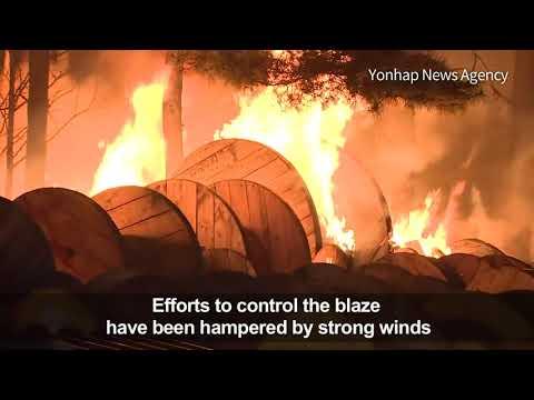 Massive Fire Wreaks Havoc In South Korea