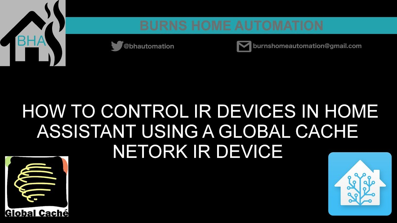 How to control IR devices in Home Assistant using a Global Cache network IR  device by BurnsHA